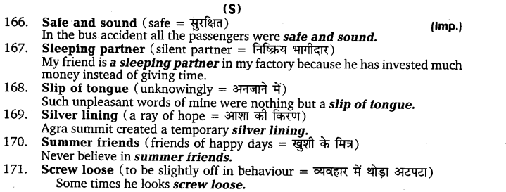 UP Board Solutions for Class 11 English Vocabulary Chapter 9 Idioms and Phrases 23