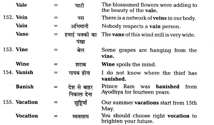 UP Board Solutions for Class 11 English Vocabulary Chapter 7 Homophones 38