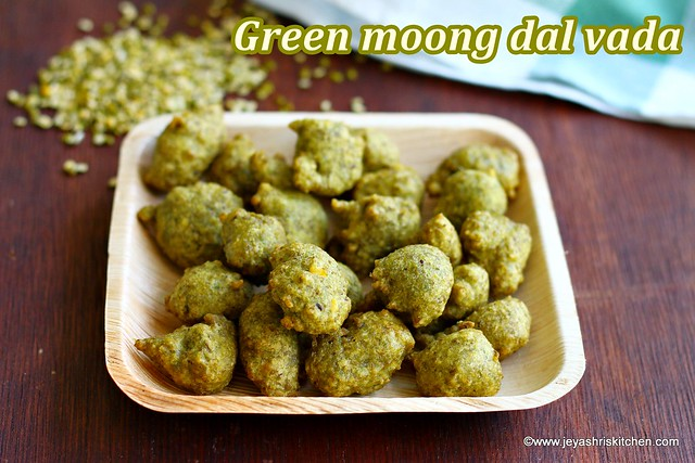 Green moong dal pakora