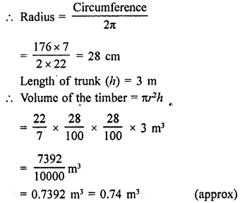 RD Sharma Class 9 Book Chapter 19 Surface Areas and Volume of a Circular Cylinder
