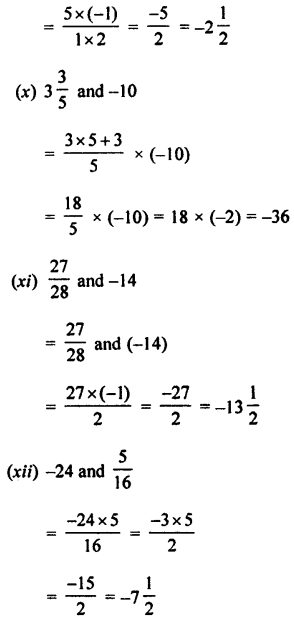 Selina Concise Mathematics class 7 ICSE Solutions - Rational Numbers-d2........