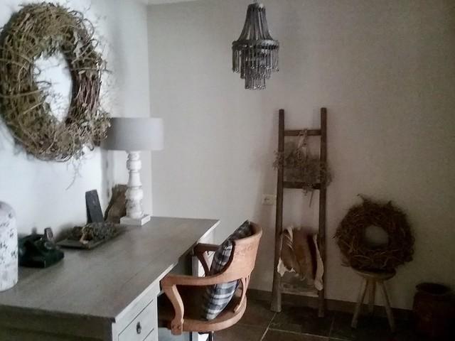 Werkplek woonkamer nisje
