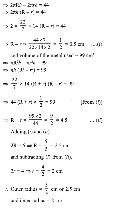 RD Sharma Class 10 Solutions Chapter 14 Surface Areas and Volumes Ex 14.2 19a