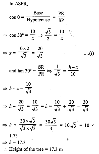 RD Sharma Class 10 Solutions Chapter 12 Heights and Distances Ex 12.1 - 36a