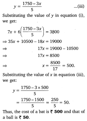 NCERT Solutions for Class 10 Maths Chapter 3 Pair of Linear Equations in Two Variables e3 3