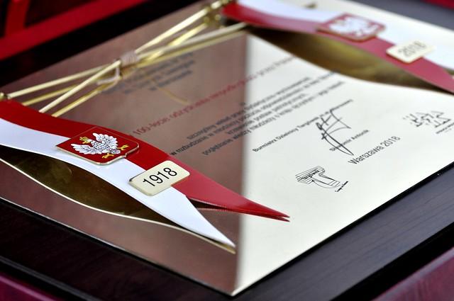 przestrzenny dyplom z mosiądzu