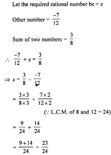 Selina Concise Mathematics class 7 ICSE Solutions - Rational Numbers-c14