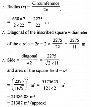 RD Sharma Class 10 Solutions Chapter 13 Areas Related to Circles Ex 13.4 - 26
