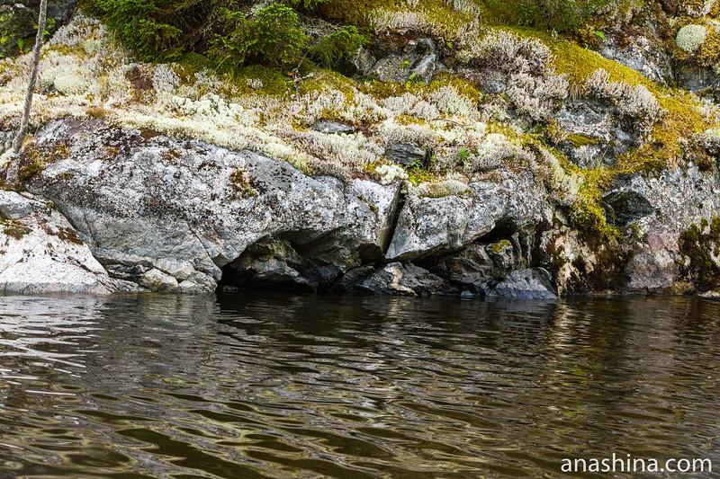 Скалы и лишайники, Ладожское озеро