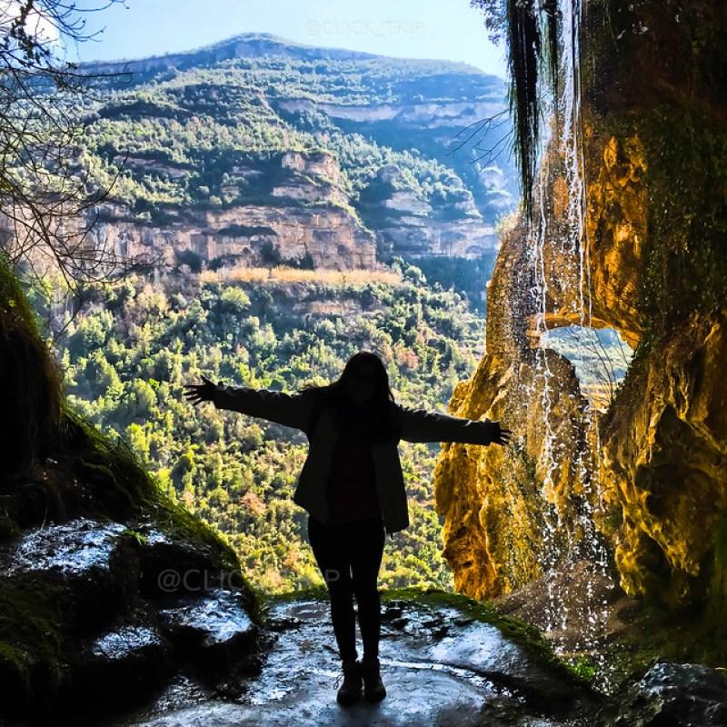 · Salto de agua del Río Tenes · Sant Miquel del Fai · Click_Trip ·