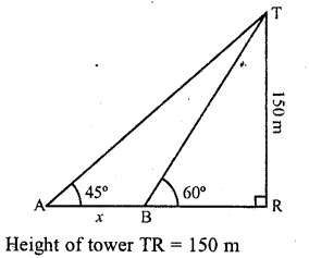RD Sharma Class 10 Solutions Chapter 12 Heights and Distances Ex 12.1 - 13