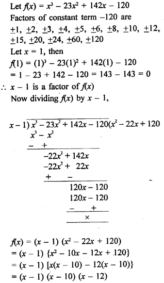 Solution Of Rd Sharma Class 9 Chapter 6 Factorisation of Polynomials