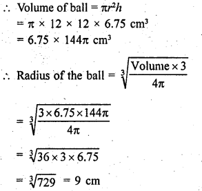 RD Sharma Class 9 Solutions Chapter 21 Surface Areas and Volume of a Sphere Ex 21.2 31