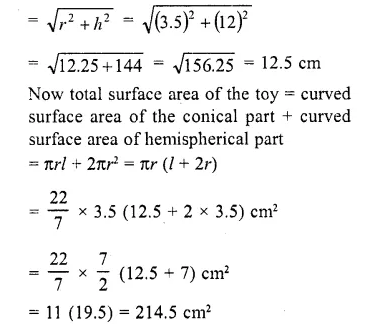 RD Sharma Class 10 Solutions Chapter 14 Surface Areas and Volumes Ex 14.2 18a