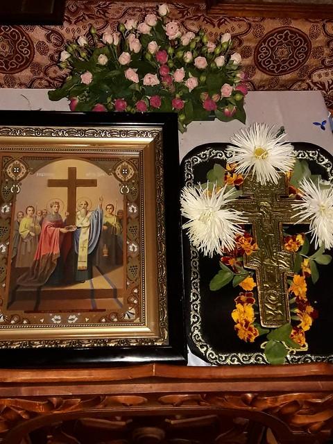 Храм в сентябре 2018 г. 27.09 - Воздвижение Креста Господня