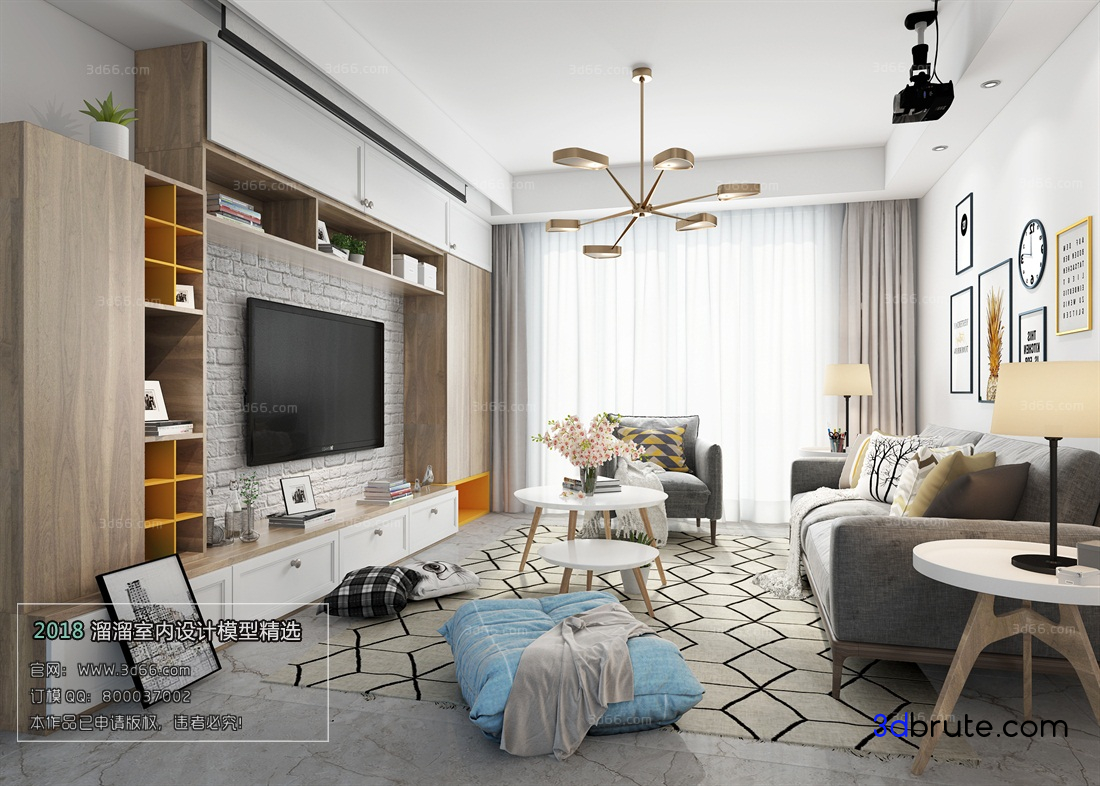 Sell Nordicstyle Scandinavian Living Room 33 Download 3d Models Free 3dbrute