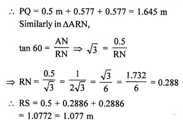 RD Sharma Class 10 Solutions Chapter 12 Heights and Distances Ex 12.1 - 73aa