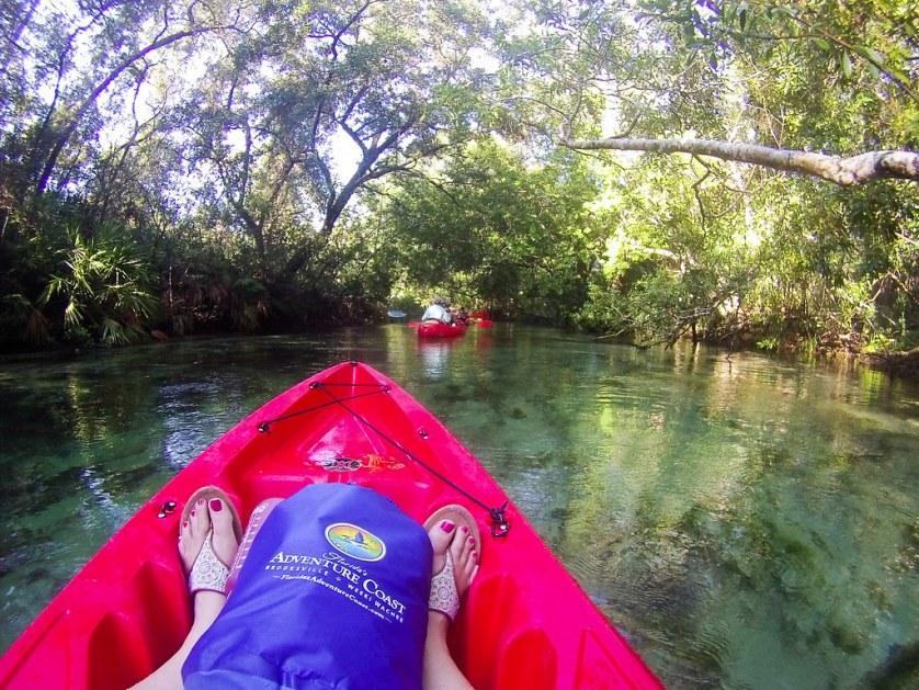 Kayaking with Rentals from Boating in Florida on the Weeki Wachee River in Weeki Wachee, Fla., Sept. 2018.