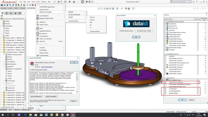 Working with DATAKIT 2018.4 Import-Export for SolidWorks 2010-2019