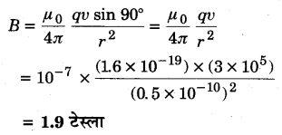 UP Board Solutions for Class 12 Physics Chapter 4 Moving Charges and Magnetism SAQ 6