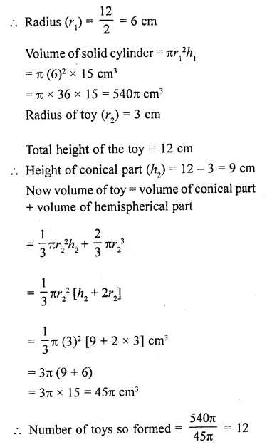 RD Sharma Class 10 Solutions Chapter 14 Surface Areas and Volumes  RV 66a
