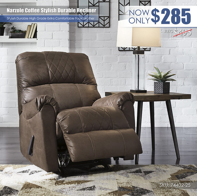Narzole Coffee Recliner_74402-25-OPEN
