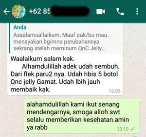 Testimoni QnC Jelly Gamat Atasi Penyakit Paru-paru Dan Stroke