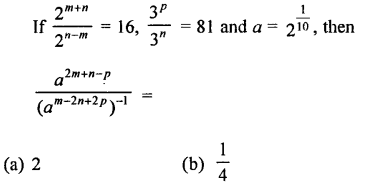 RD Sharma Class 9 Solutions Chapter 2 Exponents of Real Numbers MCQS - 35
