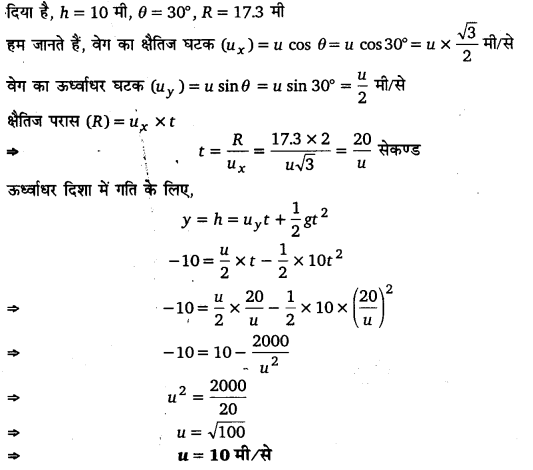UP Board Solutions for Class 11 Physics Chapter 4 Motion in a plane ( समतल में गति) d6