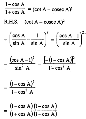 RD Sharma Class 10 Solutions Chapter 11 Trigonometric Identities Ex 11.1 - 40a