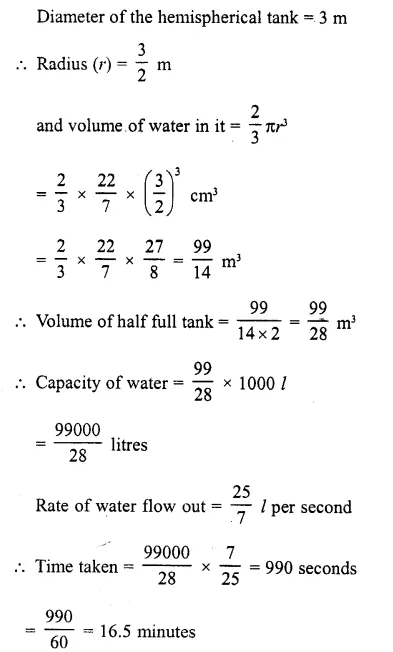 RD Sharma Class 10 Solutions Chapter 14 Surface Areas and Volumes  RV 37