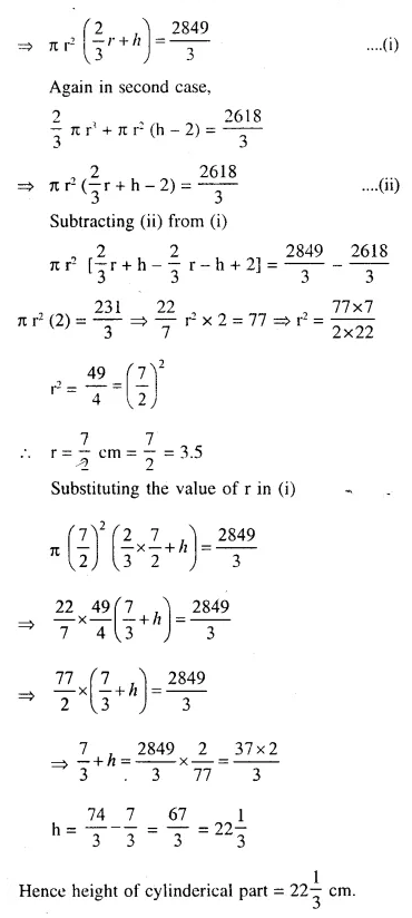Selina Concise Mathematics Class 10 ICSE Solutions Chapterwise Revision Exercise 93a