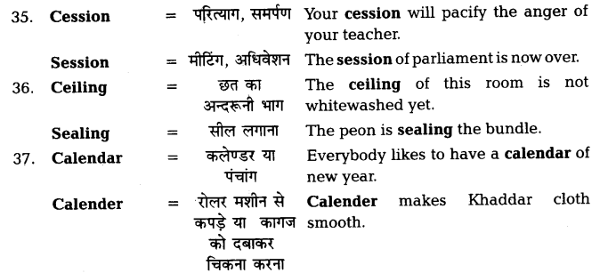 UP Board Solutions for Class 11 English Vocabulary Chapter 7 Homophones 9