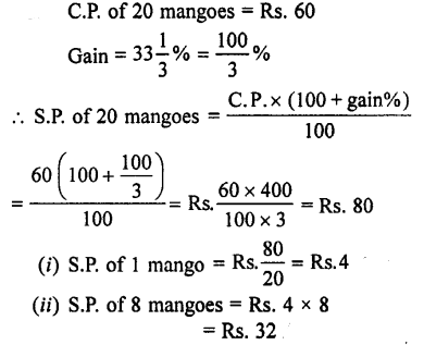Selina Concise Mathematics class 7 ICSE Solutions - Profit, Loss and Discount-b8