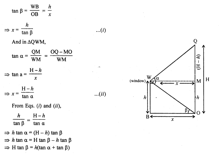 RD Sharma Class 10 Solutions Chapter 12 Heights and Distances Ex 12.1 - 77