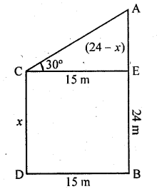 RD Sharma Class 10 Solutions Chapter 12 Heights and Distances Ex 12.1 - 43