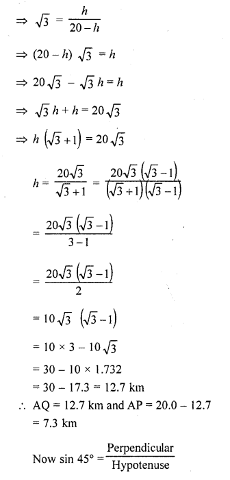 RD Sharma Class 10 Solutions Chapter 12 Heights and Distances Ex 12.1 - 59aa