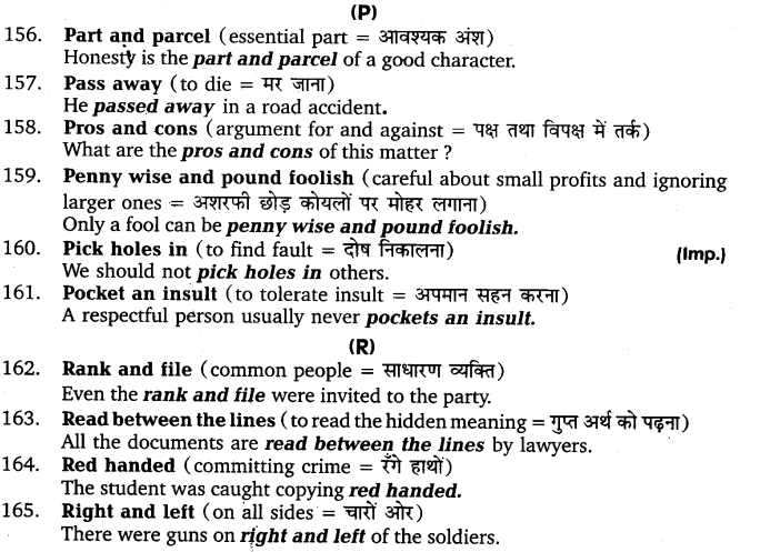 UP Board Solutions for Class 11 English Vocabulary Chapter 9 Idioms and Phrases 22