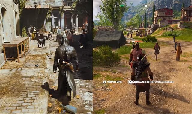 Assassin Creed Unity vs Odyssey - Différence de hauteur