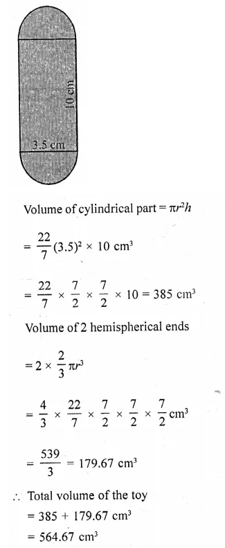 RD Sharma Class 10 Solutions Chapter 14 Surface Areas and Volumes Ex 14.2 28