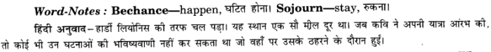 NCERT Solutions for Class 8 English Honeydew (Poem) Chapter 7 When I Set Out for Lyonnesse Q.2
