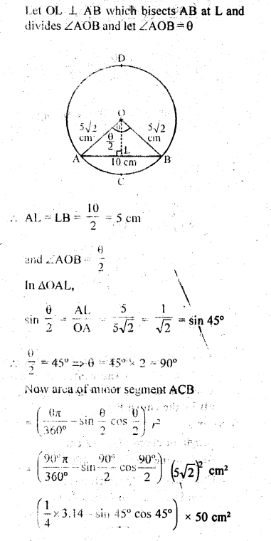 RD Sharma Class 10 Solutions Chapter 13 Areas Related to Circles Ex 13.3 - 4