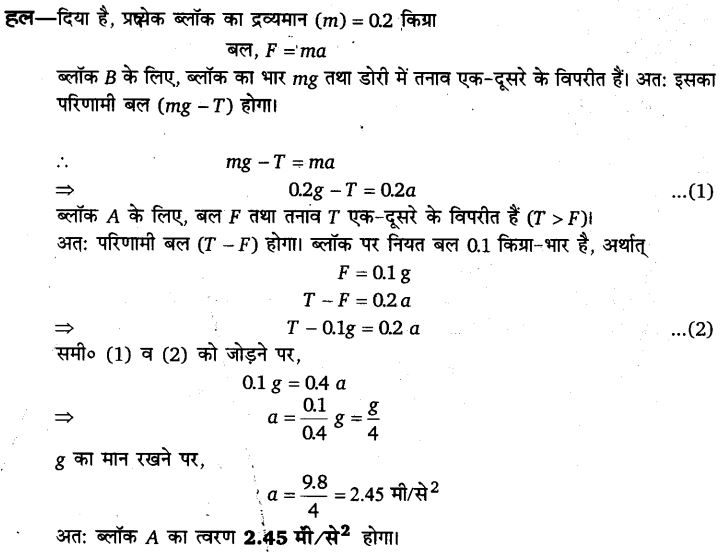 UP Board Solutions for Class 11 Physics Chapter 5 Laws of motion 75