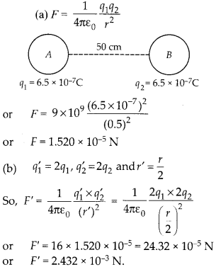 NCERT Solutions for Class 12 Physics Chapter 1 Electric Charges and Fields 9