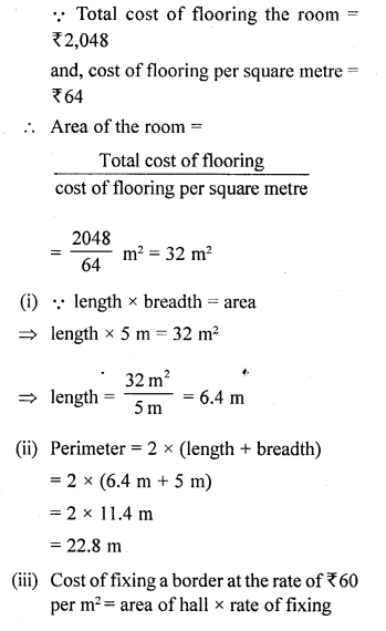 Selina Concise Mathematicsclass 6 ICSE Solutions -Perimeter and Area of Plane Figures-b17