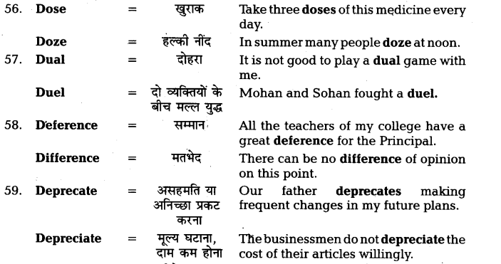 UP Board Solutions for Class 11 English Vocabulary Chapter 7 Homophones 15