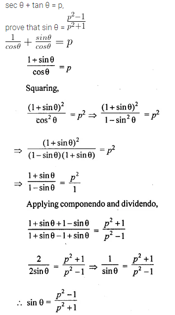 ML Aggarwal Class 10 Solutions for ICSE Maths Chapter 19 Trigonometric Identities Chapter Test 13