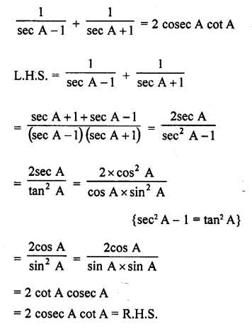 RD Sharma Class 10 Solutions Chapter 11 Trigonometric Identities Ex 11.1 - 41a