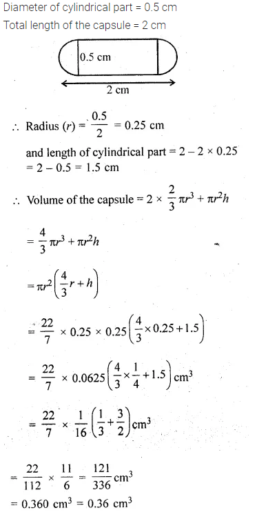 ML Aggarwal Class 10 Solutions for ICSE Maths Chapter 18 Mensuration Chapter Test 8