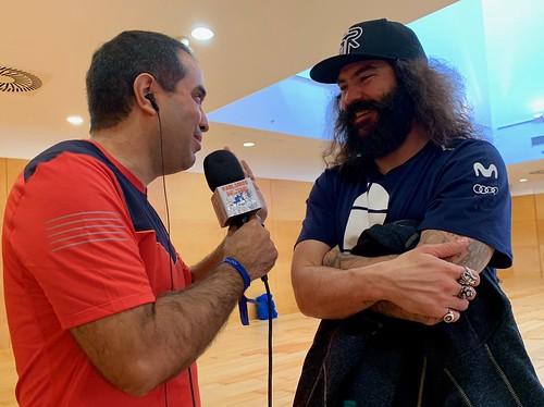 Con Regino Hernández
